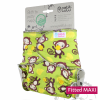 Fitted MAXI- Faddy Pandas (Bottoncini) - Fluffy Organic