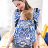 Marsupio ergonomico regolabile - Be Lenka 4ever Folk Blue - wide con spallaccio incrociabile