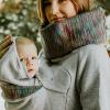 Felpa Babywearing con cappuccio per portare avanti e dietro la schiena - taglia XL