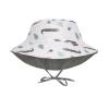 Cappellino reversibile con protezione solare - CROCODILE WHITE