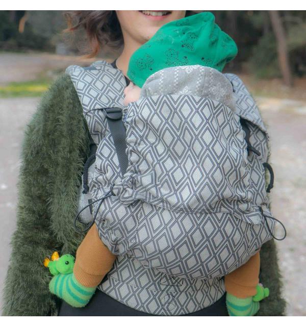 Marsupio ergonomico portabeb/è neonato Neko Slings Standard, Basic Ocean Rise