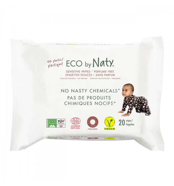 Eco by Naty -  SALVIETTE COMPOSTABILI POCKET 20 PZ