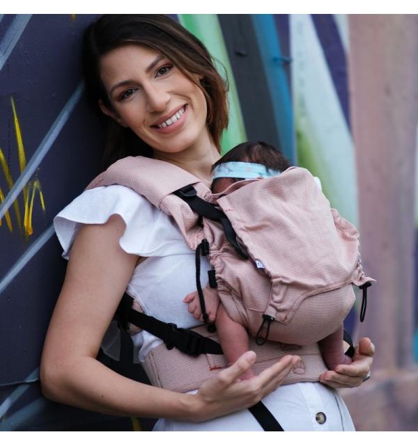 Marsupio Ergonomico Regolabile Neko Switch Baby Size Sephia